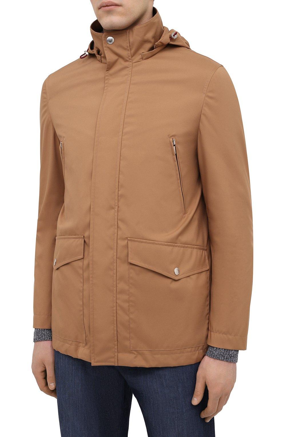 Мужская куртка BRUNELLO CUCINELLI светло-коричневого цвета, арт. MW4376442 | Фото 3