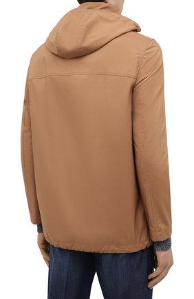Мужская куртка BRUNELLO CUCINELLI светло-коричневого цвета, арт. MW4376442 | Фото 4