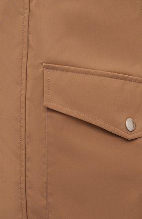 Мужская куртка BRUNELLO CUCINELLI светло-коричневого цвета, арт. MW4376442 | Фото 5