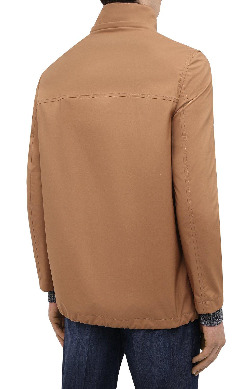 Мужская куртка BRUNELLO CUCINELLI светло-коричневого цвета, арт. MW4376442 | Фото 6