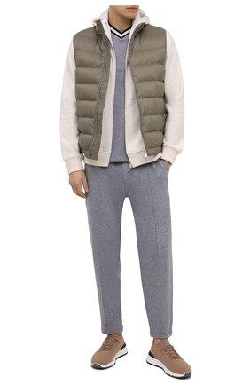 Мужской хлопковый пуловер BRUNELLO CUCINELLI серого цвета, арт. M0T611602 | Фото 2