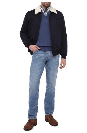 Мужской кашемировый бомбер с меховой подкладкой KITON темно-синего цвета, арт. UW0910MV03T83 | Фото 2