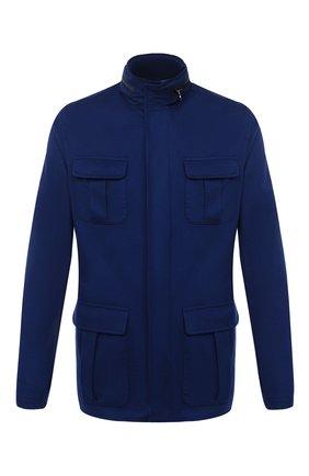 Мужская кашемировая куртка KITON темно-синего цвета, арт. UW0851MV07T74 | Фото 1