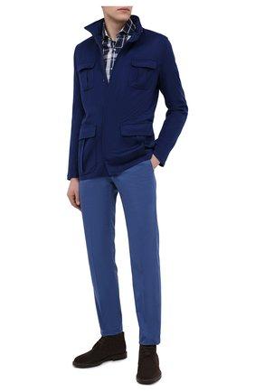 Мужская кашемировая куртка KITON темно-синего цвета, арт. UW0851MV07T74 | Фото 2