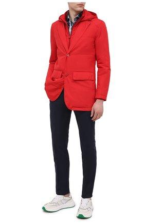 Мужская куртка KITON красного цвета, арт. UW0859MV07T61 | Фото 2 (Материал подклада: Синтетический материал; Кросс-КТ: Ветровка, Куртка; Рукава: Длинные; Материал внешний: Синтетический материал; Стили: Кэжуэл; Длина (верхняя одежда): До середины бедра)