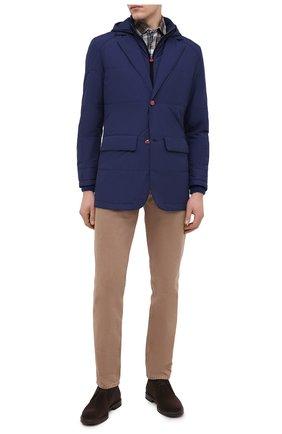 Мужская куртка KITON темно-синего цвета, арт. UW0859MV07T61   Фото 2