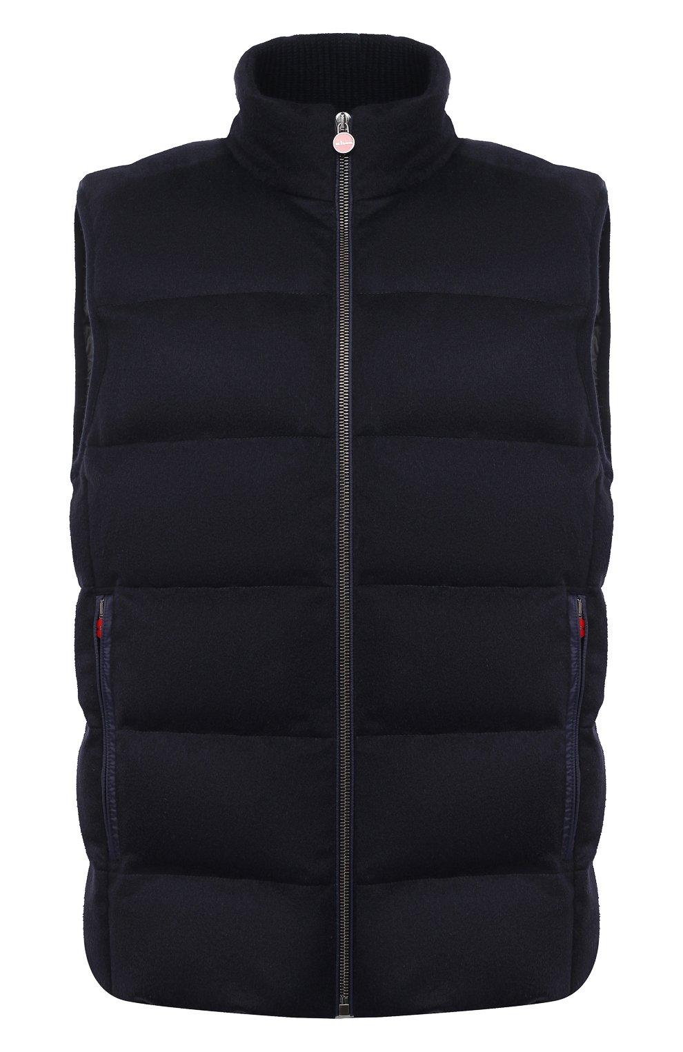 Мужской пуховый жилет KITON темно-синего цвета, арт. UW0949MK01140 | Фото 1