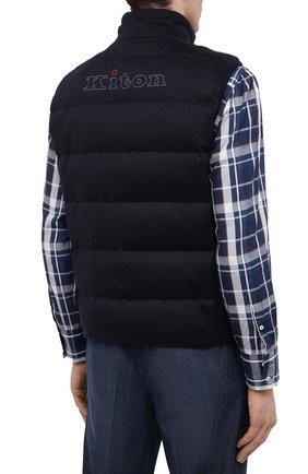 Мужской пуховый жилет KITON темно-синего цвета, арт. UW0949MK01140 | Фото 4