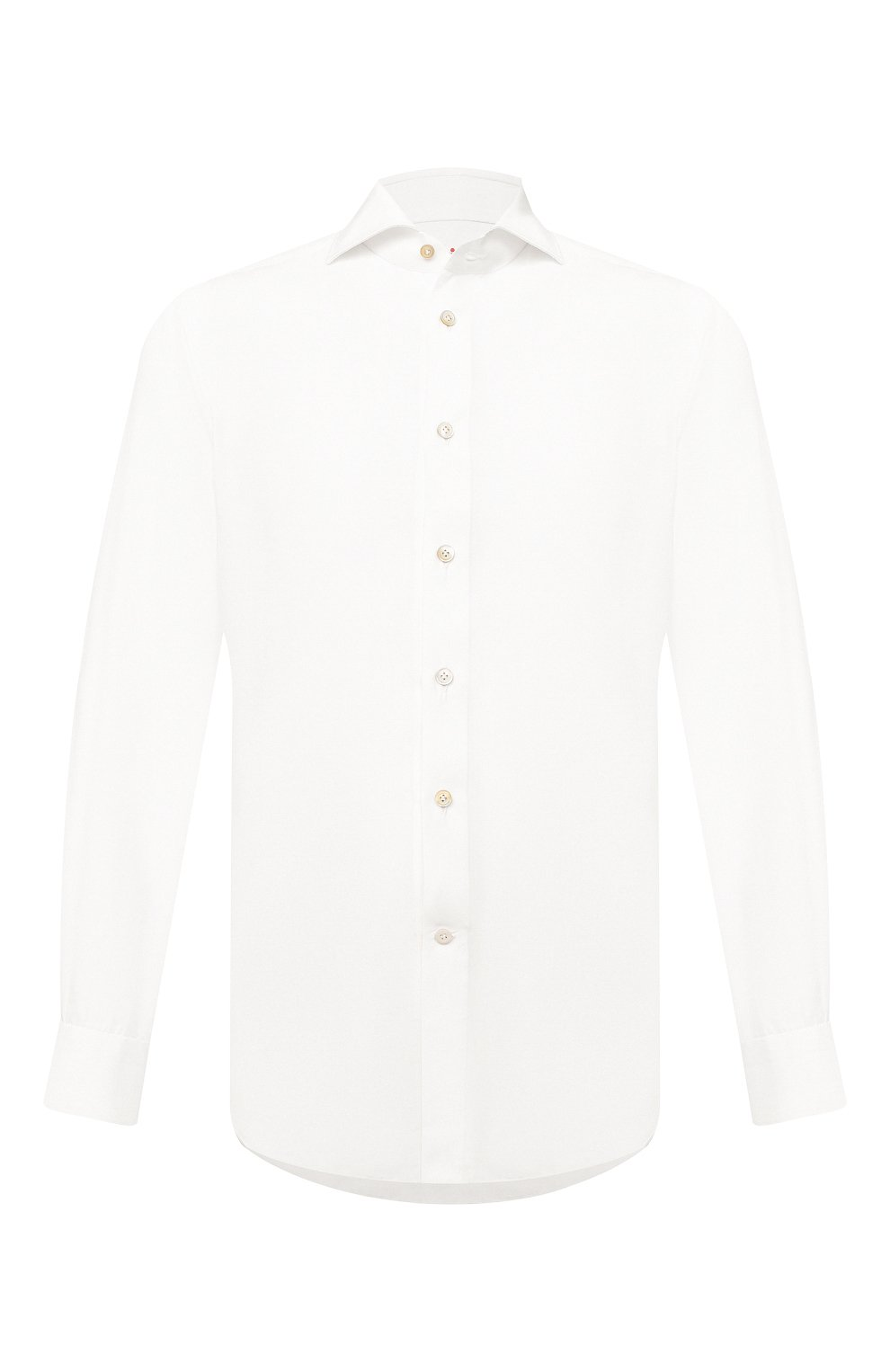 Мужская сорочка KITON белого цвета, арт. UCIH0761401 | Фото 1
