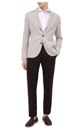 Мужская сорочка KITON белого цвета, арт. UCIH0761401 | Фото 2
