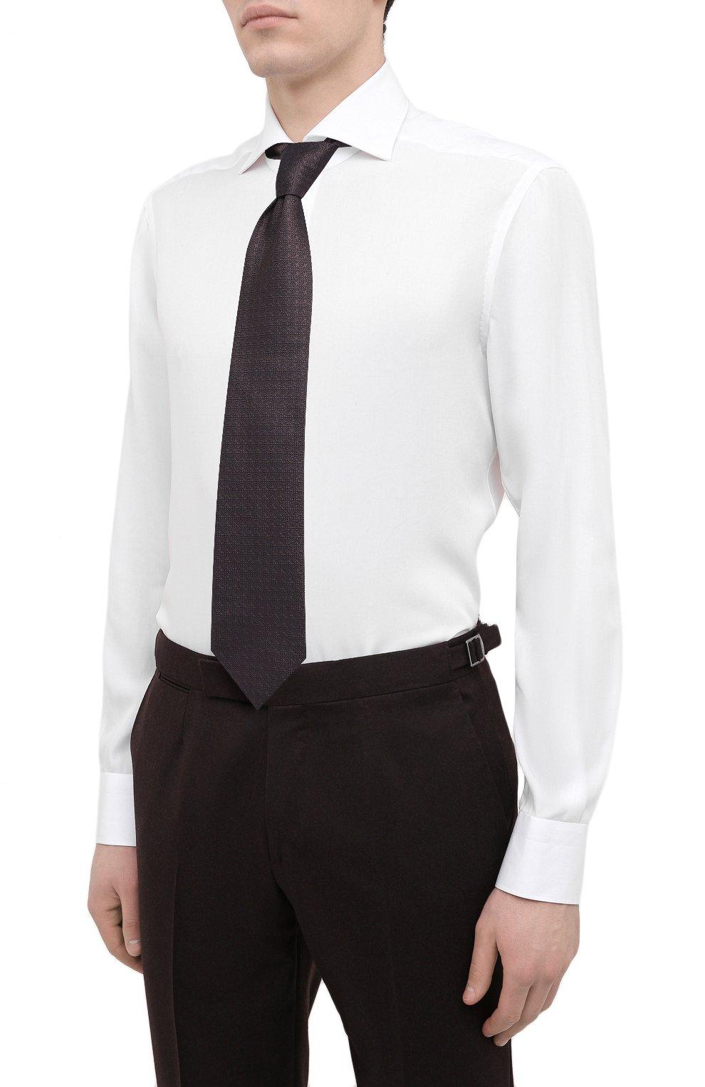 Мужская сорочка KITON белого цвета, арт. UCIH0761401 | Фото 4
