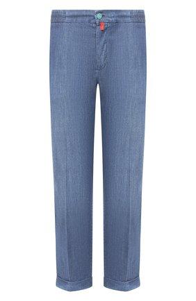 Мужские джинсы KITON голубого цвета, арт. UFPLAC/J07T23   Фото 1