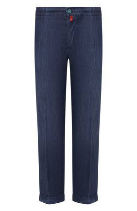 Мужские джинсы KITON голубого цвета, арт. UFPLAC/J07T23 | Фото 1