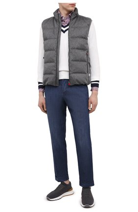 Мужские джинсы KITON голубого цвета, арт. UFPLAC/J07T23 | Фото 2