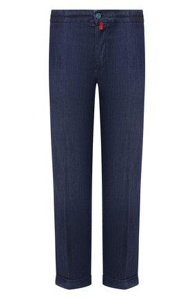 Мужские джинсы KITON темно-синего цвета, арт. UFPLAC/J07T23 | Фото 1