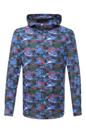 Мужская хлопковая рубашка KITON разноцветного цвета, арт. UMCMARH0768307 | Фото 1