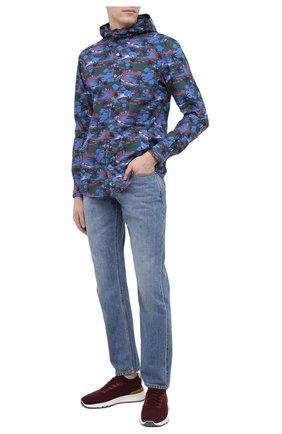 Мужская хлопковая рубашка KITON разноцветного цвета, арт. UMCMARH0768307 | Фото 2