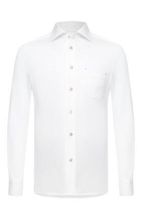 Мужская хлопковая рубашка KITON белого цвета, арт. UMCNERH0760901 | Фото 1