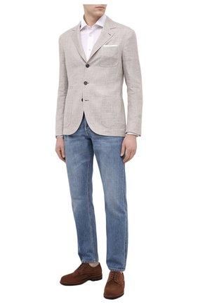 Мужская хлопковая рубашка KITON белого цвета, арт. UMCNERH0760901 | Фото 2