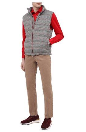 Мужская хлопковая рубашка KITON красного цвета, арт. UMCNERH0760912 | Фото 2