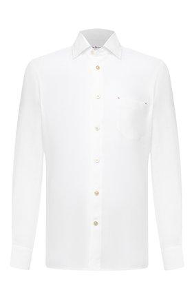 Мужская льняная рубашка KITON белого цвета, арт. UMCNERH0768501 | Фото 1