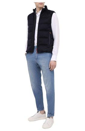 Мужская льняная рубашка KITON белого цвета, арт. UMCNERH0768501 | Фото 2