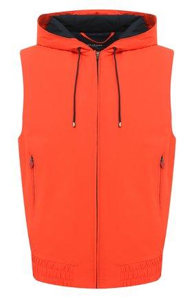 Мужской жилет KITON оранжевого цвета, арт. UW0956V07T90 | Фото 1