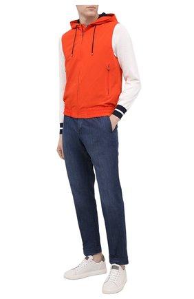 Мужской жилет KITON оранжевого цвета, арт. UW0956V07T90 | Фото 2