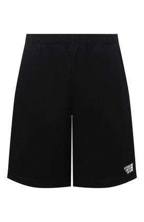 Женские хлопковые шорты VETEMENTS черного цвета, арт. ME51PA620B 1614/W | Фото 1