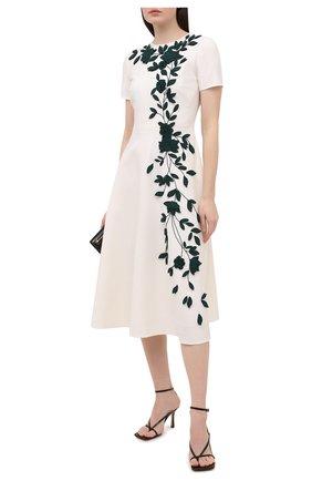 Женское шерстяное платье OSCAR DE LA RENTA белого цвета, арт. 20PE2722DSW | Фото 2