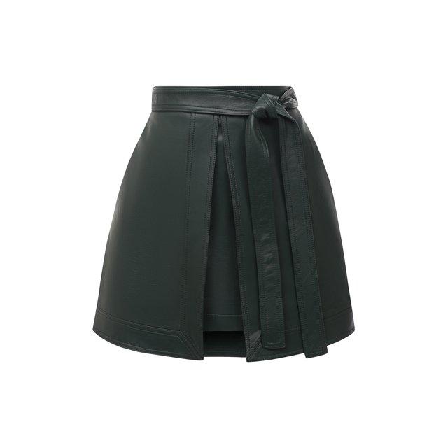 Кожаная юбка Oscar de la Renta