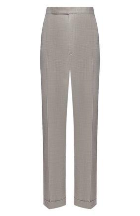 Женские шерстяные брюки RALPH LAUREN серого цвета, арт. 290817118 | Фото 1