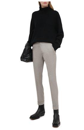 Женские шерстяные брюки RALPH LAUREN серого цвета, арт. 290817118 | Фото 2