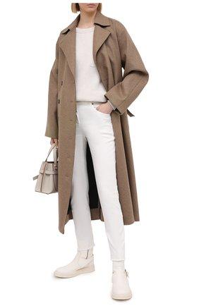 Женский хлопковый свитшот BRUNELLO CUCINELLI кремвого цвета, арт. M19717600 | Фото 2 (Длина (для топов): Стандартные; Материал внешний: Хлопок; Стили: Классический; Рукава: Длинные; Женское Кросс-КТ: Свитшот-одежда)