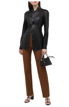 Женские кожаные босоножки valentino garavani rockstud  VALENTINO черного цвета, арт. VW2S0491/VBP | Фото 2