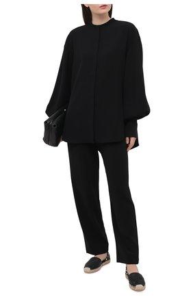 Женские кожаные эспадрильи rockstud VALENTINO черного цвета, арт. VW2S0530/VT0 | Фото 2 (Каблук высота: Низкий; Материал внутренний: Натуральная кожа; Подошва: Платформа)
