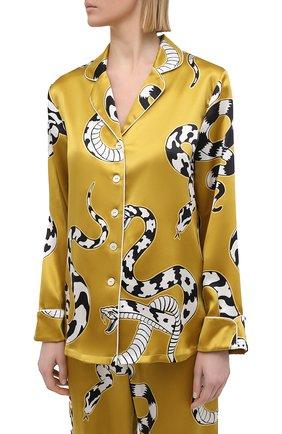 Женская шелковая пижама OLIVIA VON HALLE зеленого цвета, арт. PS2101   Фото 2