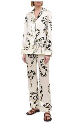 Женская шелковая пижама OLIVIA VON HALLE белого цвета, арт. PS2103 | Фото 1