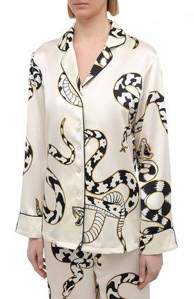 Женская шелковая пижама OLIVIA VON HALLE белого цвета, арт. PS2103 | Фото 2