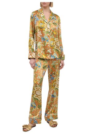 Женская шелковая пижама OLIVIA VON HALLE желтого цвета, арт. PS2106 | Фото 1