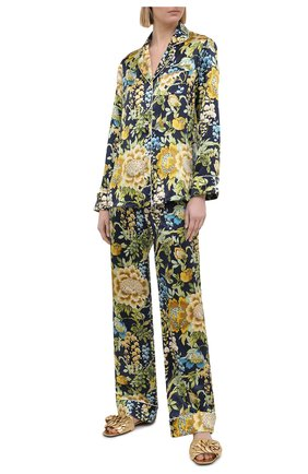 Женская шелковая пижама OLIVIA VON HALLE разноцветного цвета, арт. PS2107 | Фото 1