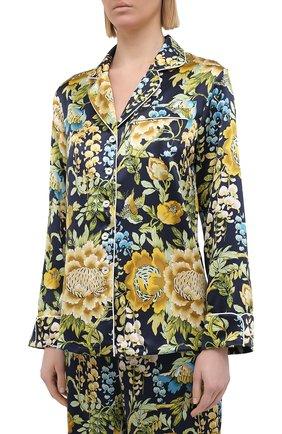 Женская шелковая пижама OLIVIA VON HALLE разноцветного цвета, арт. PS2107 | Фото 2