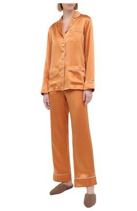 Женская шелковая пижама OLIVIA VON HALLE оранжевого цвета, арт. PS2113 | Фото 1