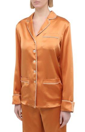 Женская шелковая пижама OLIVIA VON HALLE оранжевого цвета, арт. PS2113 | Фото 2