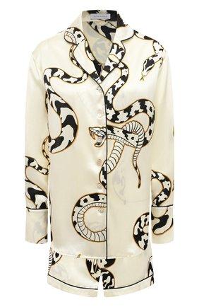 Женская шелковая пижама OLIVIA VON HALLE белого цвета, арт. PS2123 | Фото 1