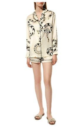 Женская шелковая пижама OLIVIA VON HALLE белого цвета, арт. PS2123 | Фото 2