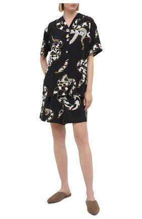 Женская шелковая пижама OLIVIA VON HALLE черно-белого цвета, арт. PS2124 | Фото 1