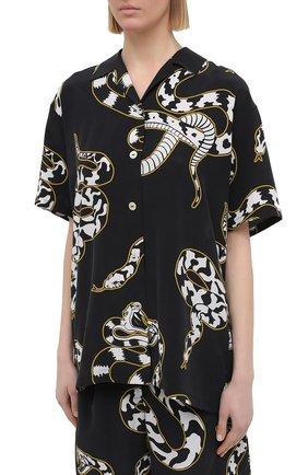 Женская шелковая пижама OLIVIA VON HALLE черно-белого цвета, арт. PS2124   Фото 2