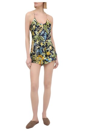 Женская шелковая пижама OLIVIA VON HALLE разноцветного цвета, арт. PS2132   Фото 1