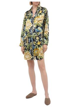 Женская шелковая сорочка OLIVIA VON HALLE разноцветного цвета, арт. PS2133 | Фото 2